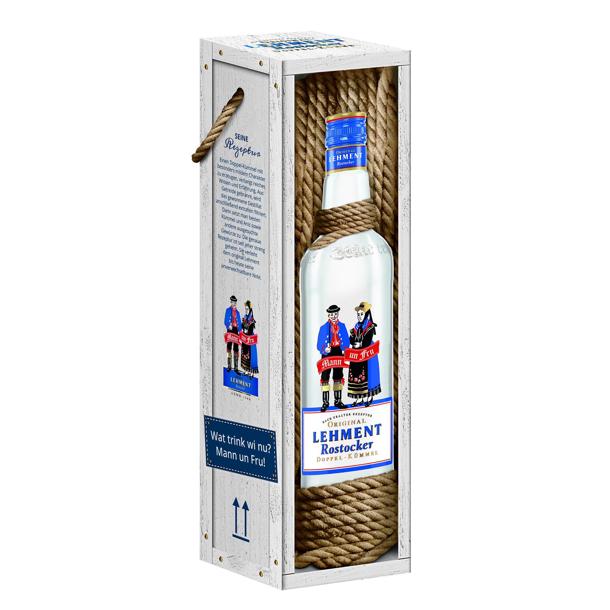 Original Lehment Rostocker Doppel-Kümmel in Geschenkverpackung