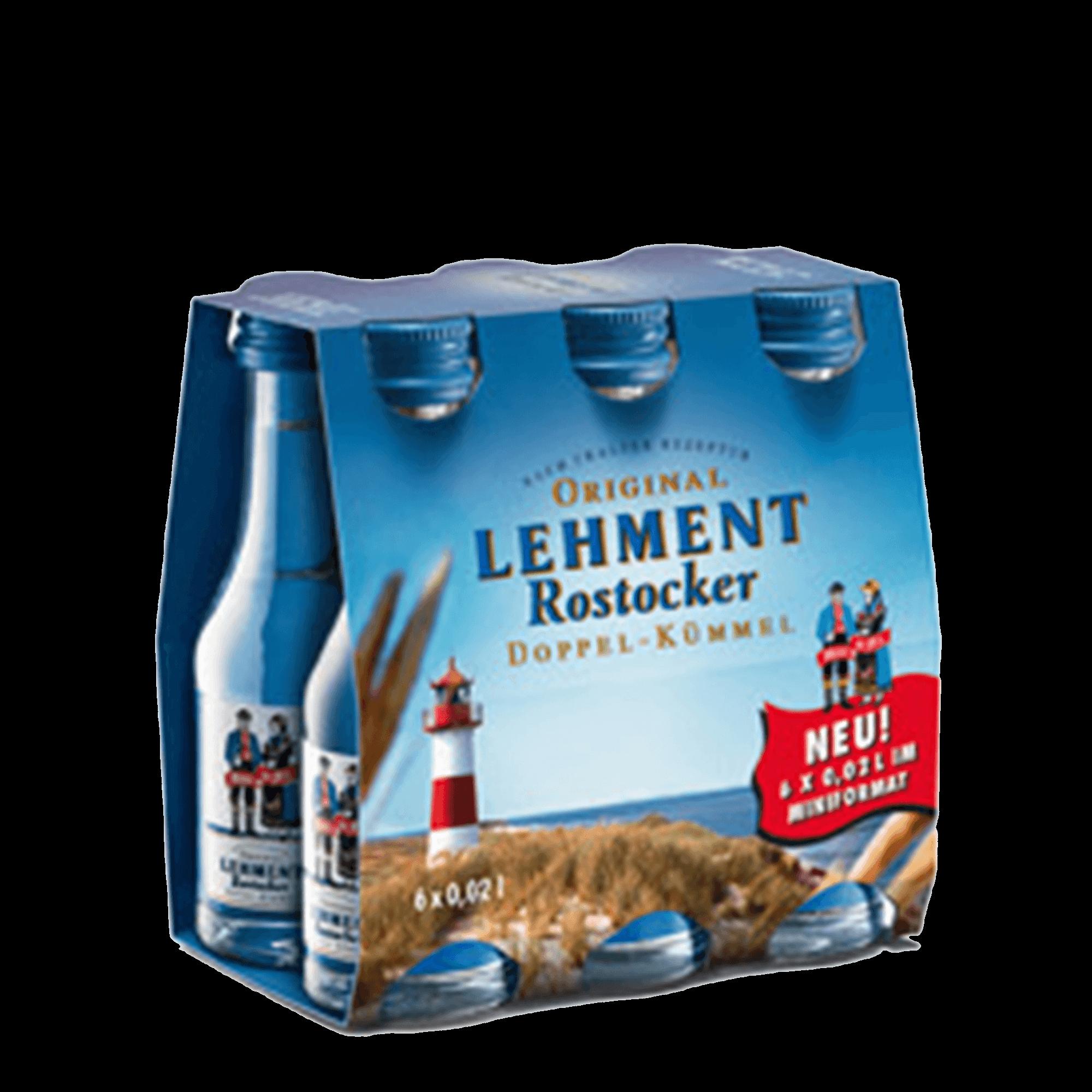 Original Lehment Rostocker Doppel-Kümmel 6x0,02l